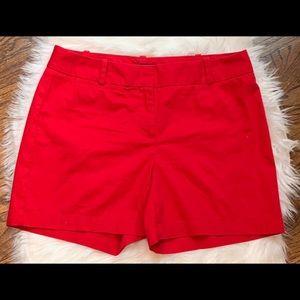 EUC Talbots Red Shorts Sz 10, 5 inch Inseam Basic